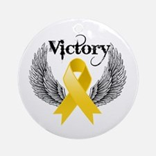 Victory Childhood Cancer Ornament (Round)