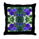 Blue flower Reflection Throw Pillow