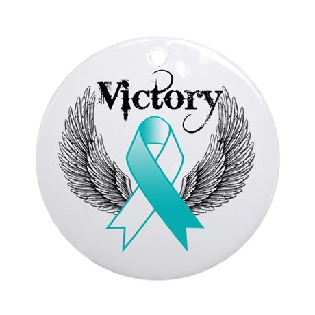 Victory Cervical Cancer Ornament (Round)