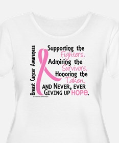 SupportAdmireHonor10 Breast Cancer T-Shirt