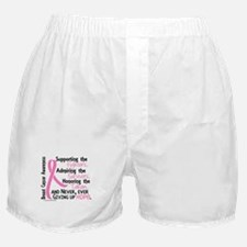 SupportAdmireHonor10 Breast Cancer Boxer Shorts