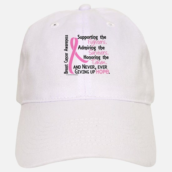 SupportAdmireHonor10 Breast Cancer Baseball Baseball Cap