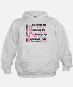 SupportAdmireHonor10 Breast Cancer Hoodie