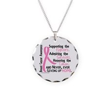 SupportAdmireHonor10 Breast Cancer Necklace Circle