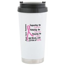 SupportAdmireHonor10 Breast Cancer Travel Mug