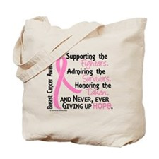 SupportAdmireHonor10 Breast Cancer Tote Bag