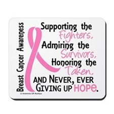 SupportAdmireHonor10 Breast Cancer Mousepad