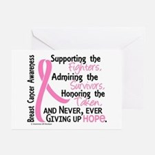 SupportAdmireHonor10 Breast Cancer Greeting Cards