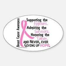 SupportAdmireHonor10 Breast Cancer Decal
