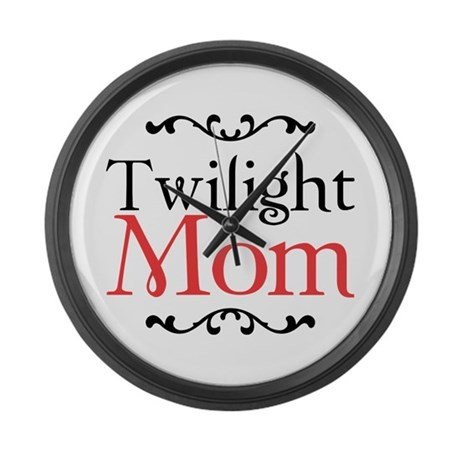 Twilight Mom Large Wall Clock