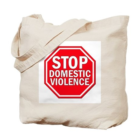 STOP Domestic Violence Tote Bag