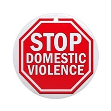 STOP Domestic Violence Ornament (Round)