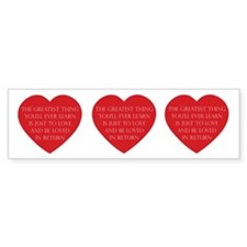 Love and be Loved Bumper Sticker