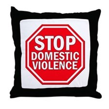 STOP Domestic Violence Throw Pillow