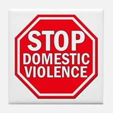 STOP Domestic Violence Tile Coaster
