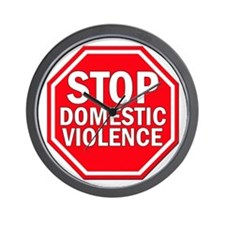 STOP Domestic Violence Wall Clock