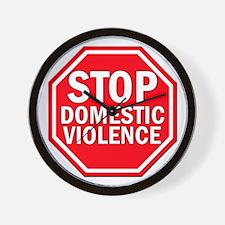 STOP Domestic Violence Wall Clock
