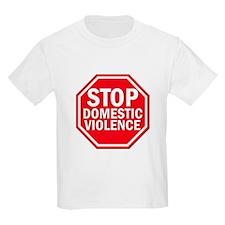 STOP Domestic Violence Kids T-Shirt