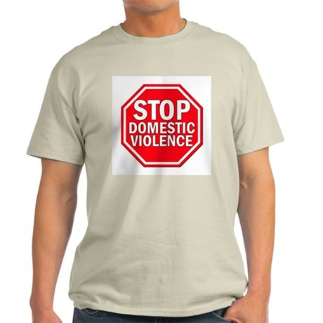 STOP Domestic Violence Ash Grey T-Shirt