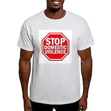 STOP Domestic Violence Ash Grey T-Shirt