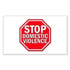 STOP Domestic Violence Rectangle Decal