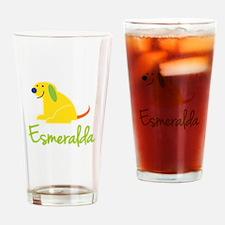 Esmeralda Loves Puppies Drinking Glass