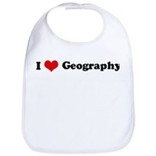 I Love Geography Bib