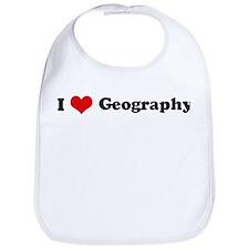 I Love Geography Bib