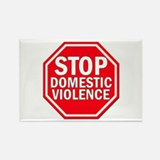 STOP Domestic Violence Rectangle Magnet