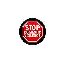 STOP Domestic Violence Mini Button