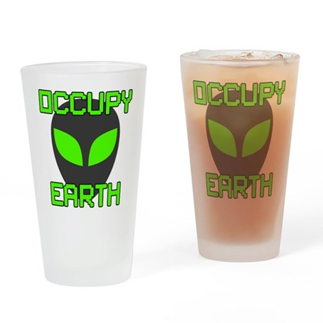 Occupy Earth Drinking Glass