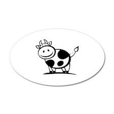 Cow 22x14 Oval Wall Peel