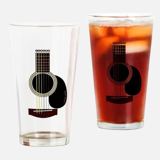 acoustic guitar Pint Glass