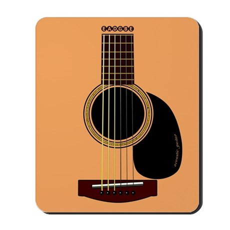acoustic guitar Mousepad