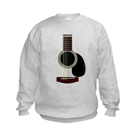 acoustic guitar Kids Sweatshirt