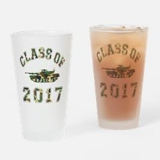 Class Of 2017 Military School Drinking Glass