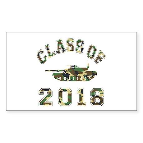 Class Of 2018 Military School Sticker (Rectangle)