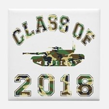 Class Of 2018 Military School Tile Coaster