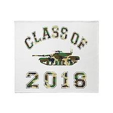 Class Of 2018 Military School Throw Blanket