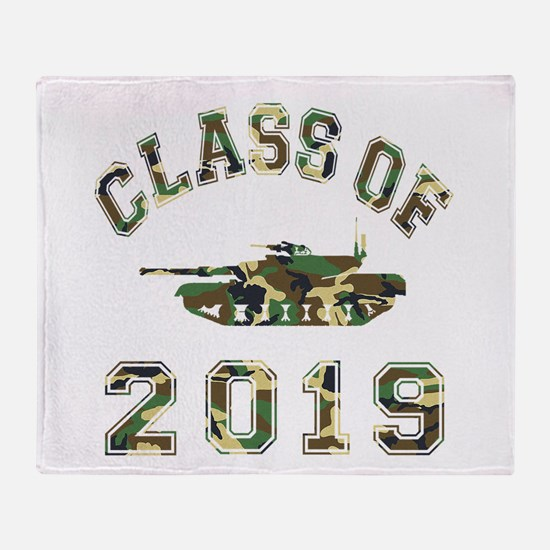 Class Of 2019 Military School Throw Blanket