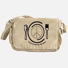 Peace on Plate Messenger Bag