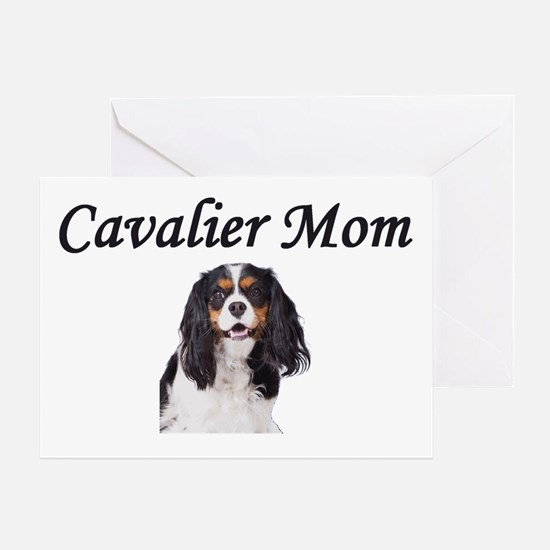 Cavalier Mom-Light Colors Greeting Card