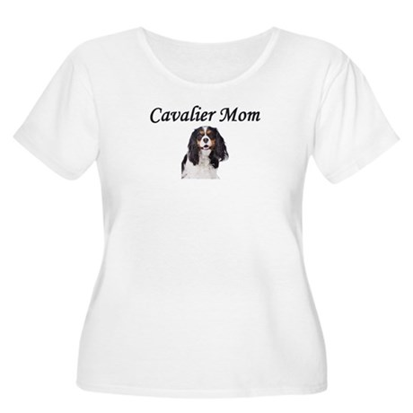 Cavalier Mom-Light Colors Women's Plus Size Scoop