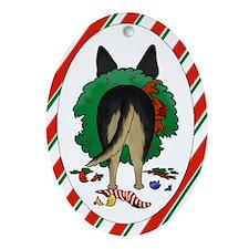 Shepherd Butt Xmas Ornament (Oval)