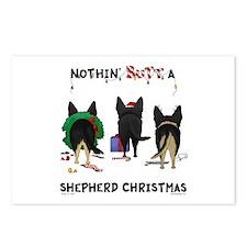 Shepherd Butt Xmas Postcards (Package of 8)