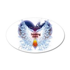 Breaking Dawn Angel Wings by Twibaby 22x14 Oval Wa