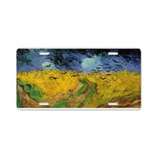 Van Gogh Crows Wheatfields Aluminum License Plate