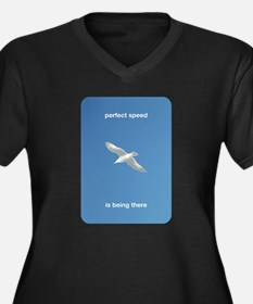 Perfect Speed Is Being There Women's Plus Size V-N