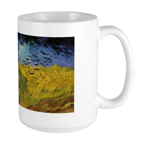 Van Gogh Crows Wheatfields Large Mug