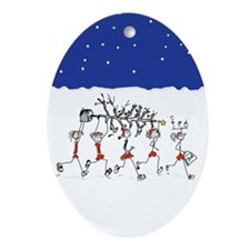 Christmas Runners Ornament (Oval)